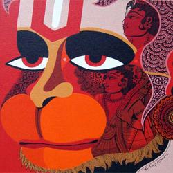 Hanuman dio scimmia yoga
